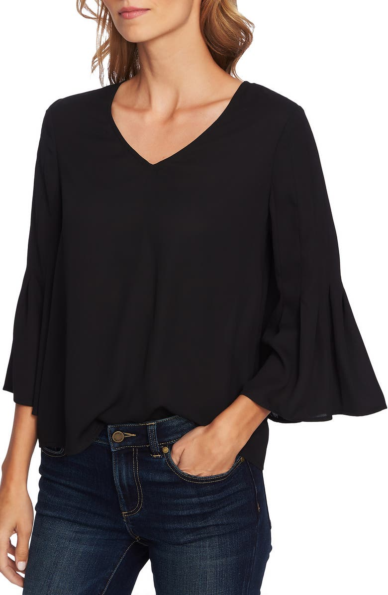 CECE Bell Sleeve Swing Blouse, Main, color, 006