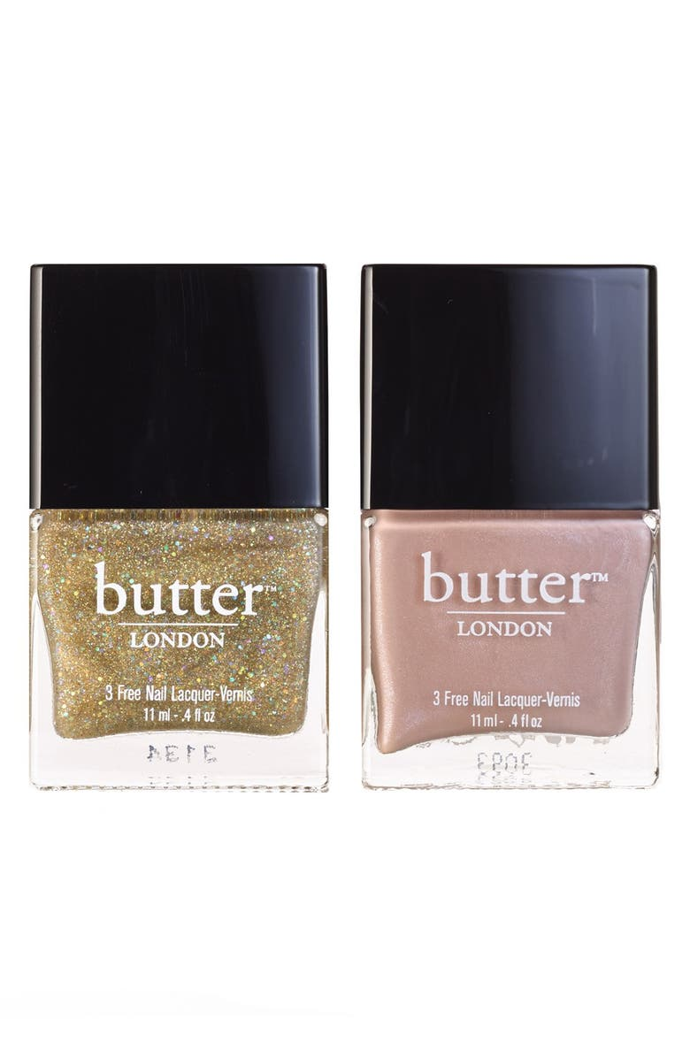 BUTTER LONDON 'Her Majesty's' Nail Lacquer Duo, Main, color, No Color