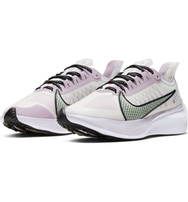 NIKE Zoom Gravity Running Shoe, Main, color, WHITE/ ICED LILAC/ PISTACHIO