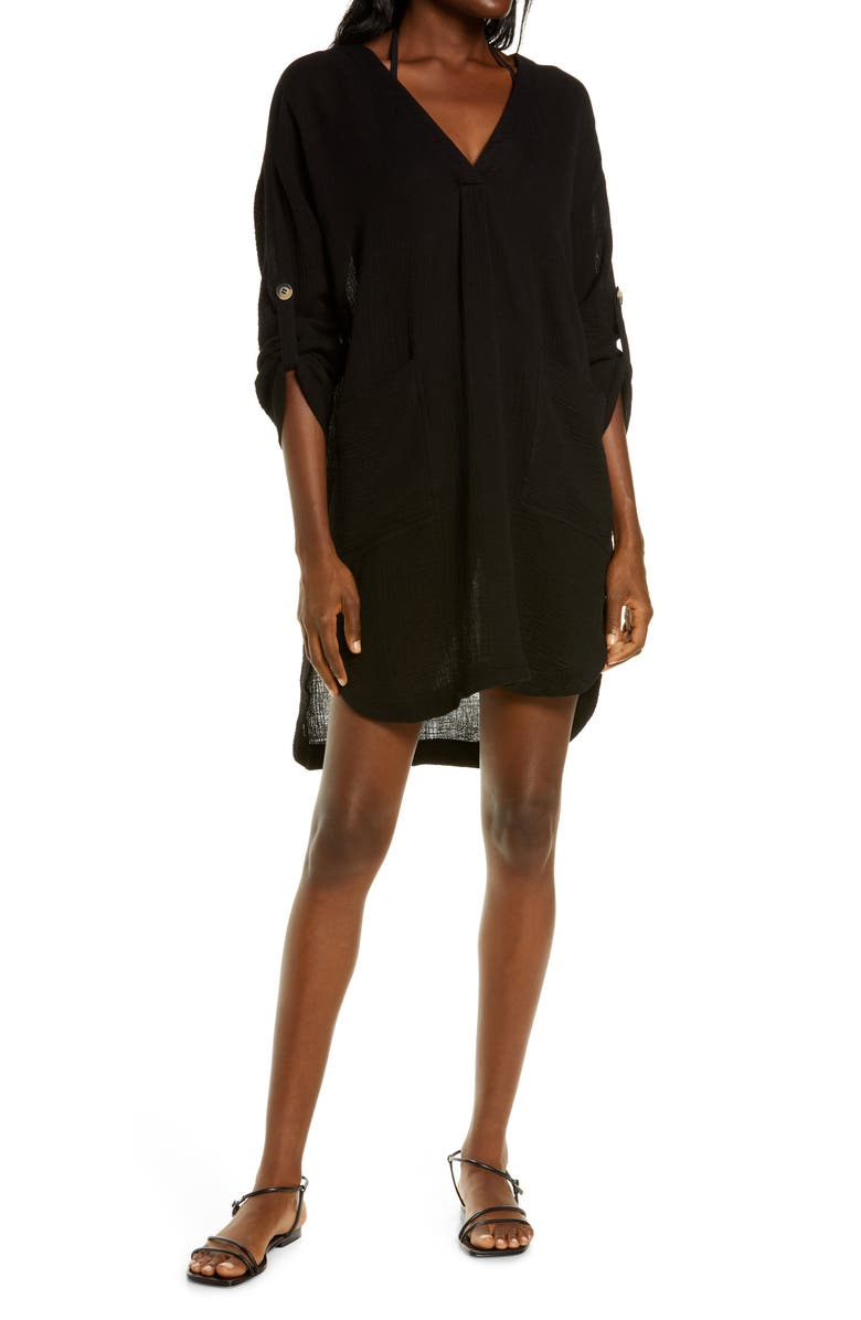 SEAFOLLY Essential Cover-Up, Main, color, BLACK