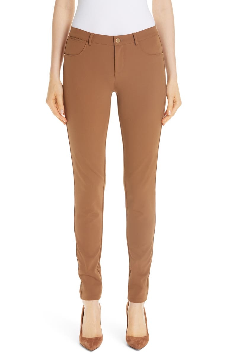 LAFAYETTE 148 NEW YORK Mercer Acclaimed Stretch Skinny Pants, Main, color, MAPLE