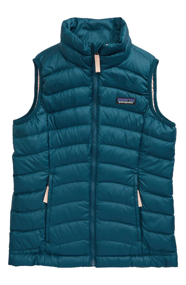 PATAGONIA Water Repellent Down Vest, Main, color, CRATER BLUE-CTRB