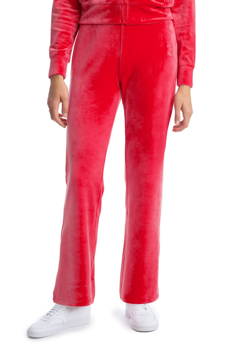 JUICY COUTURE Velour Track Pants, Main, color, 620