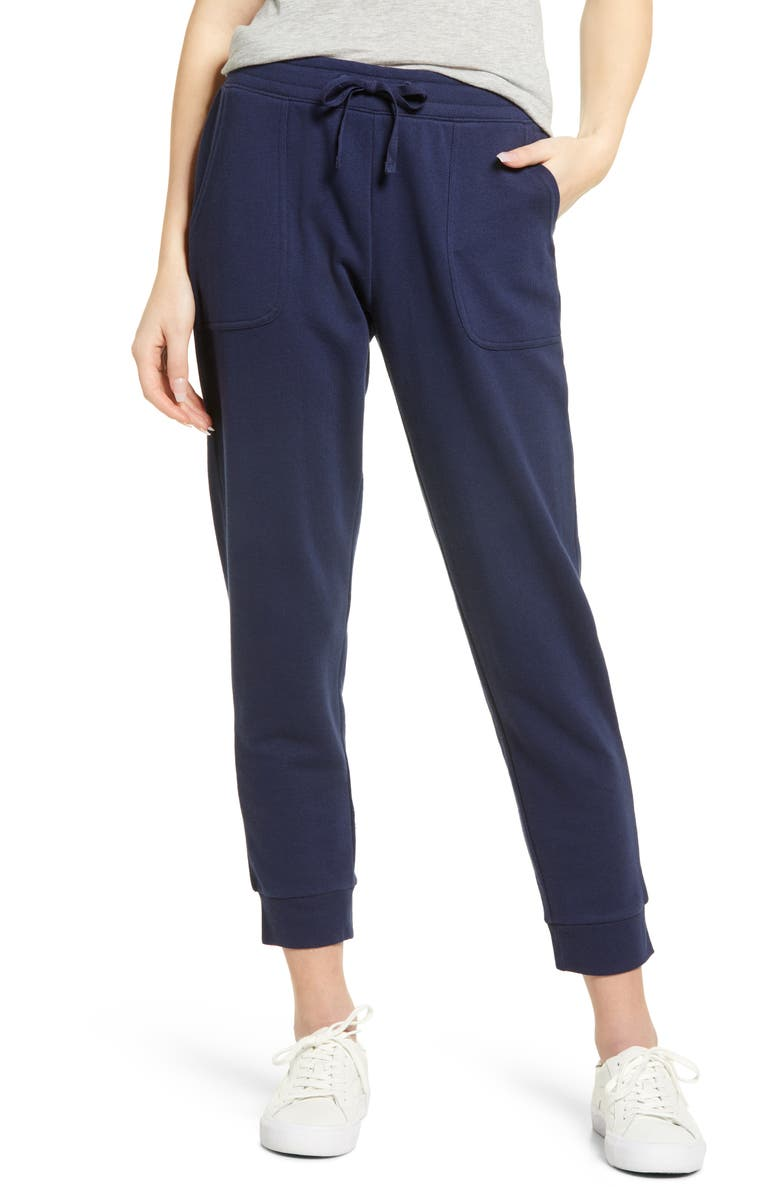 CASLON<SUP>®</SUP> Knit Ankle Joggers, Main, color, NAVY PEACOAT