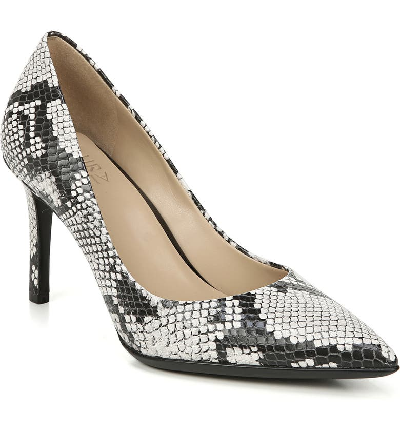 NATURALIZER Anna Pointed Toe Pump, Main, color, ALABASTER SNAKE PRINT LEATHER
