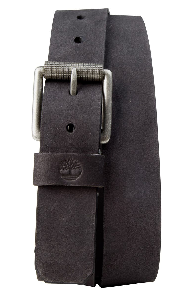 TIMBERLAND Leather Belt, Main, color, 001