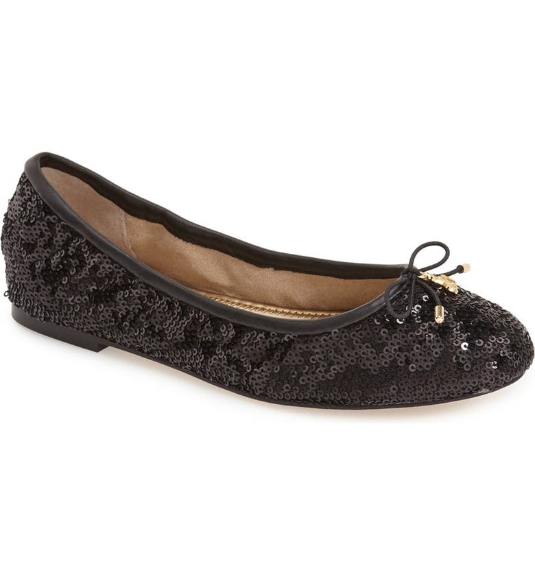 SAM EDELMAN Felicia Flat, Main, color, BLACK/ WHITE MULTI LEATHER
