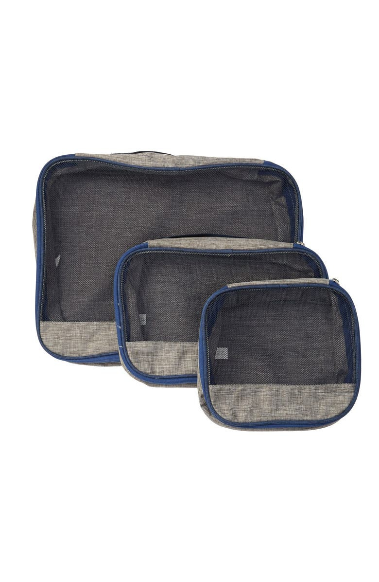 NORDSTROM RACK Upright Packing Cubes - Pack of 3, Main, color, GREY