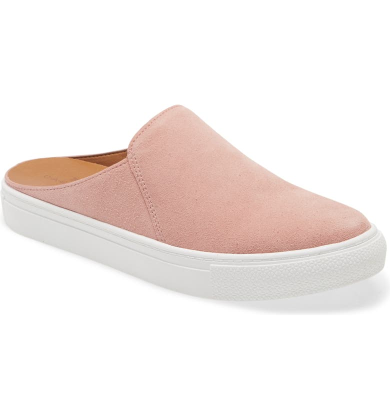 CASLON<SUP>®</SUP> Nellie Suede Slip-On Sneaker Mule, Main, color, PINK BLUSH