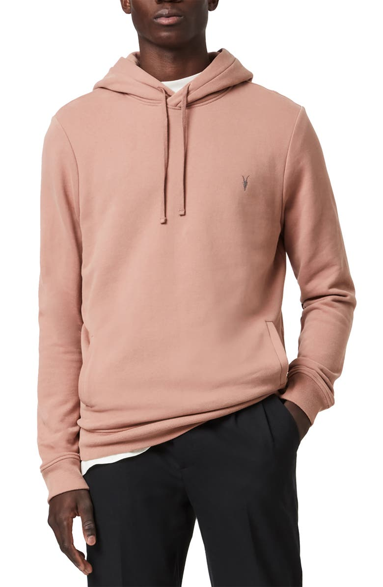 ALLSAINTS Raven Hoodie, Main, color, BAKED CLAY PINK