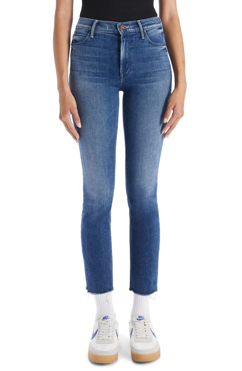 MOTHER Dazzler Fray Hem Crop Jeans, Main, color, WE ALL IN THIS TOGETHER