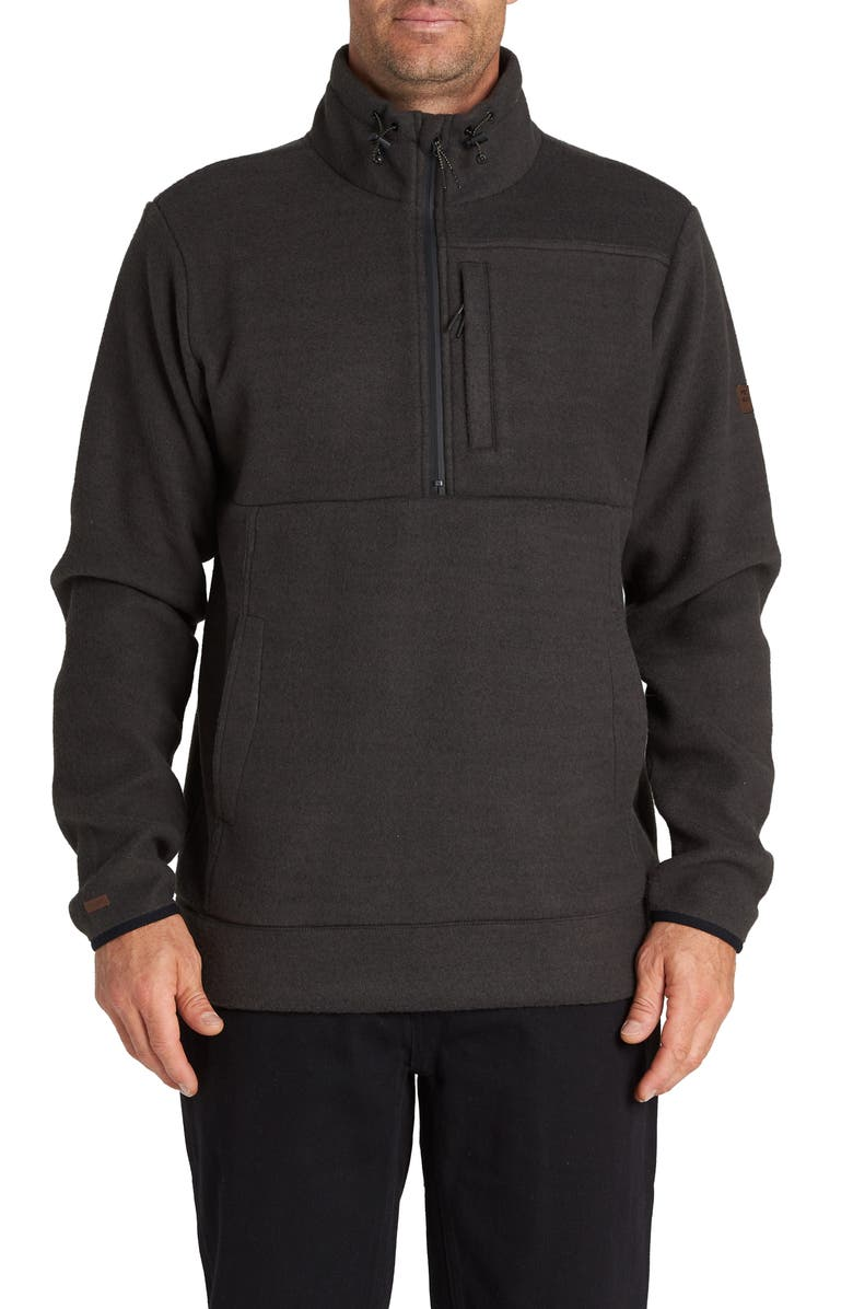 BILLABONG Boundary Mock Half Zip Pullover, Main, color, 001
