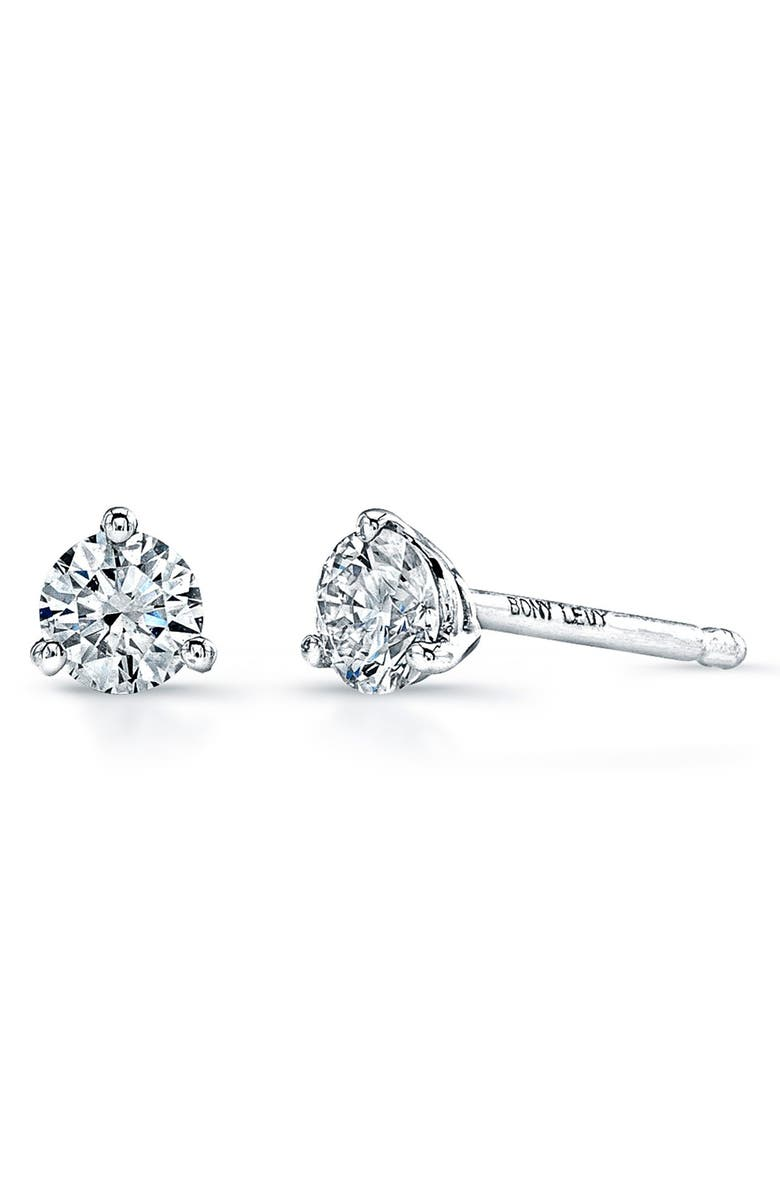 BONY LEVY Diamond Stud Earrings, Main, color, WHITE GOLD