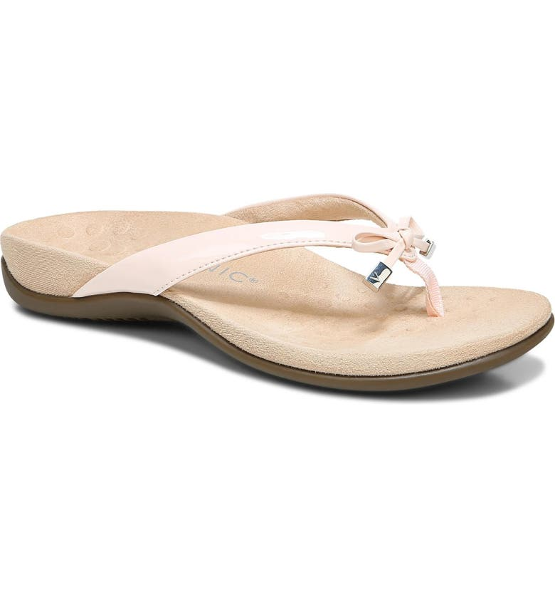 VIONIC Bella II Sandal, Main, color, PALE BLUSH FAUX PATENT LEATHER