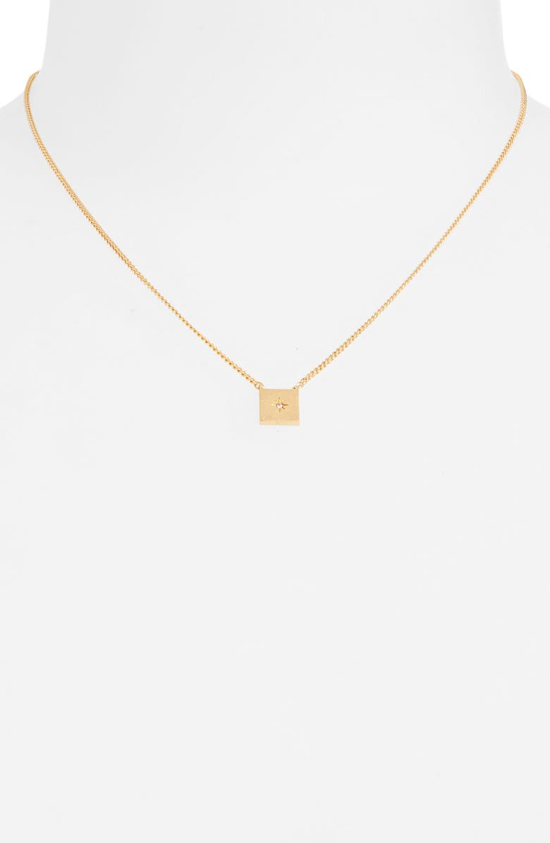 MADEWELL Square Pendant Choker Necklace, Main, color, 710