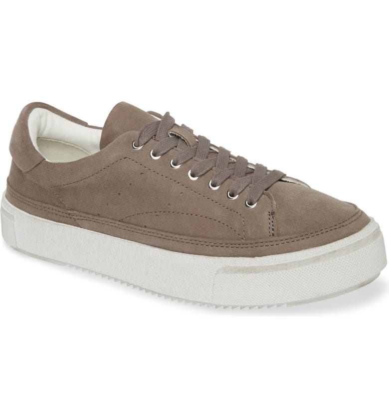 ALLSAINTS Trish Snake Embossed Leather Sneaker, Main, color, TAUPE SUEDE