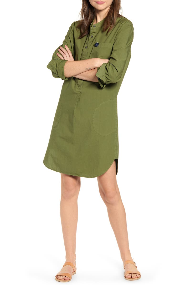 ALEX MILL Garment Dyed Popover Shirtdress, Main, color, 340