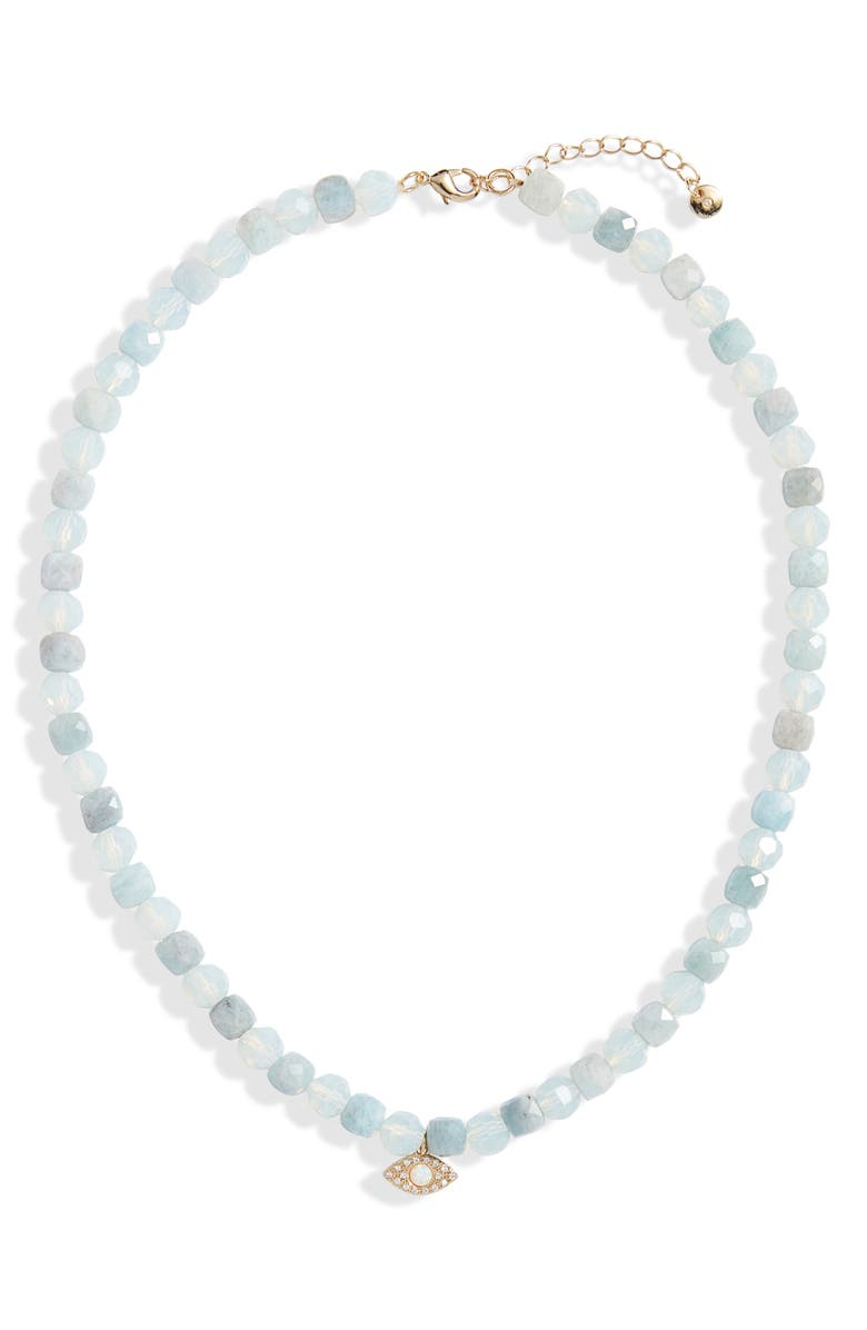 NORDSTROM Bold Stone Collar Necklace, Main, color, CLEAR- WHITE- LIGHT BLUE