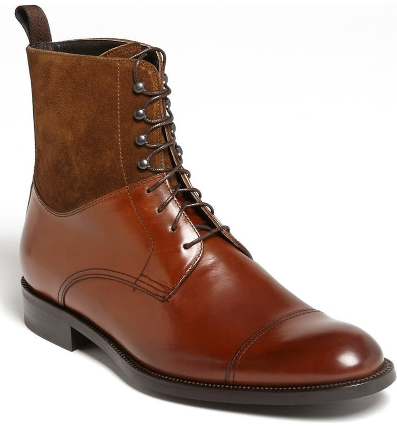 TO BOOT NEW YORK 'Wright' Cap Toe Boot, Main, color, RUST