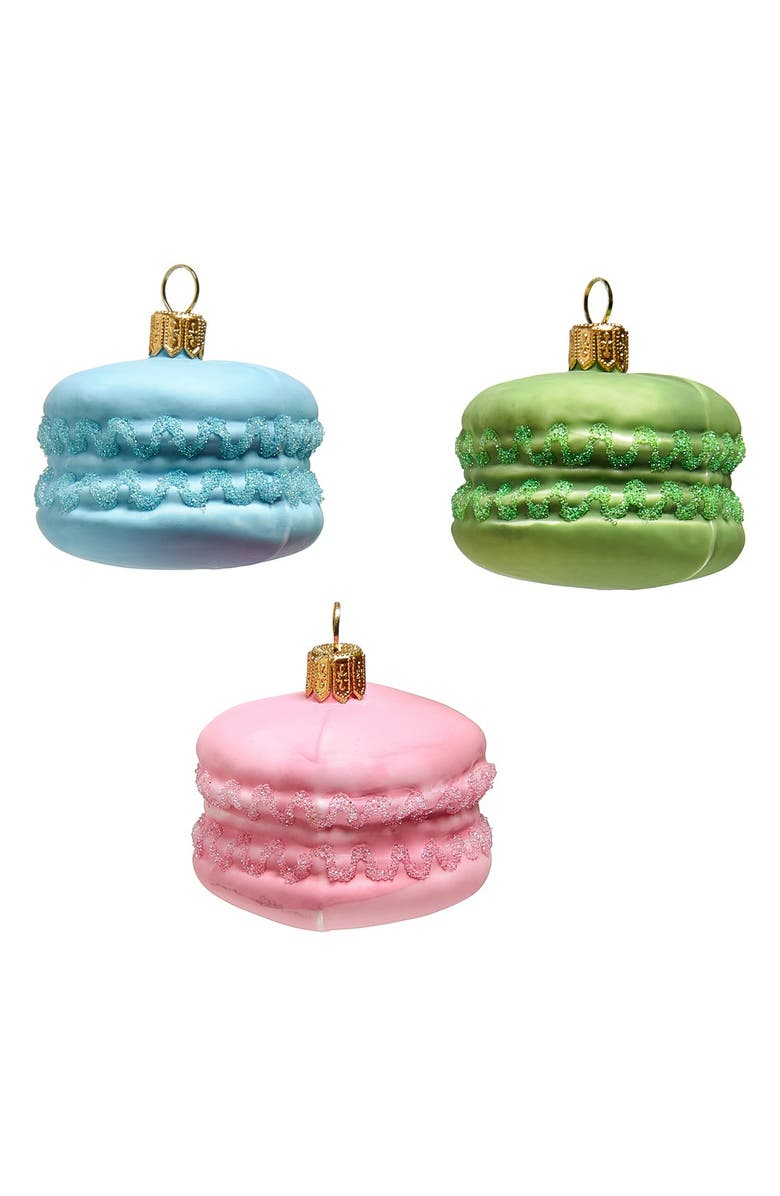 NORDSTROM at Home Macaroons Glass Ornaments, Main, color, 650