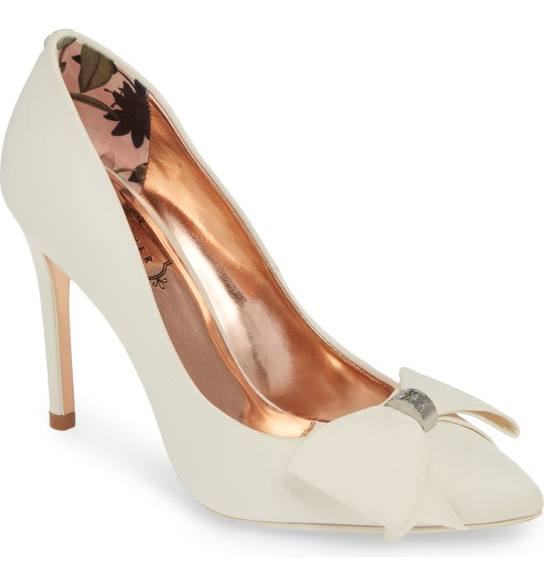 TED BAKER LONDON Asellys Pump, Main, color, IVORY SATIN