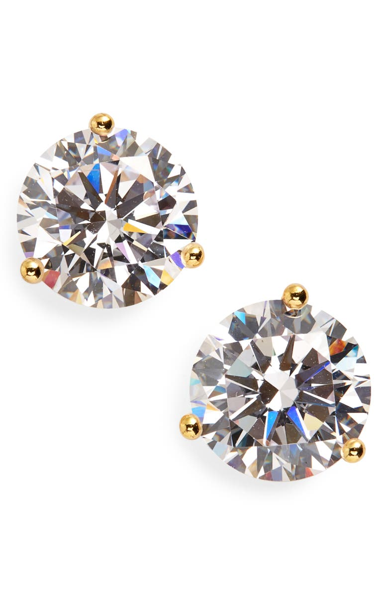 NORDSTROM 4ct tw Cubic Zirconia Earrings, Main, color, GOLD