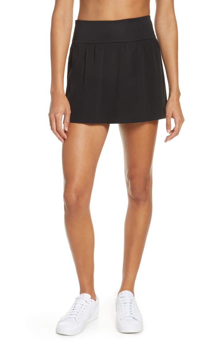 SPANX<SUP>®</SUP> The Get Moving Skort, Main, color, BLACK