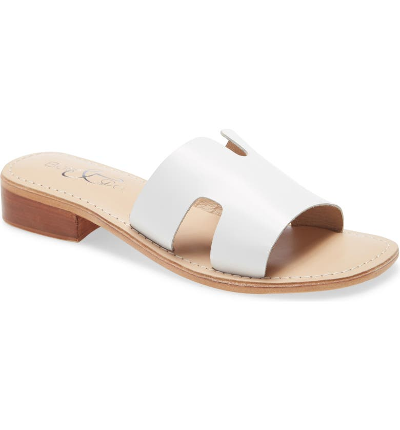 BOS. & CO. Imani Slide Sandal, Main, color, WHITE SMOOTH LEATHER
