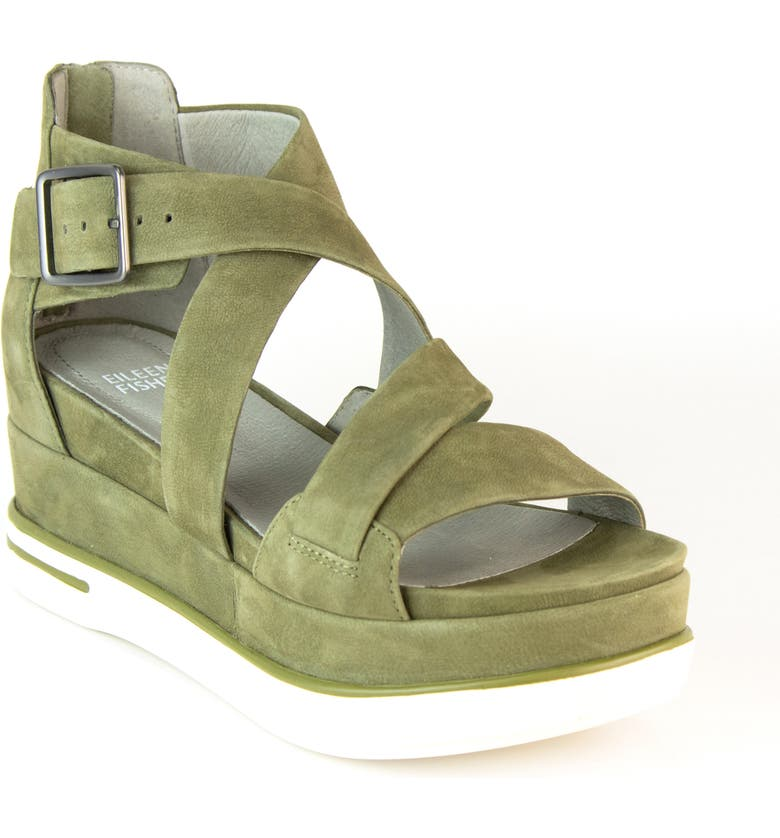 EILEEN FISHER Boost Wedge Sandal, Main, color, 303