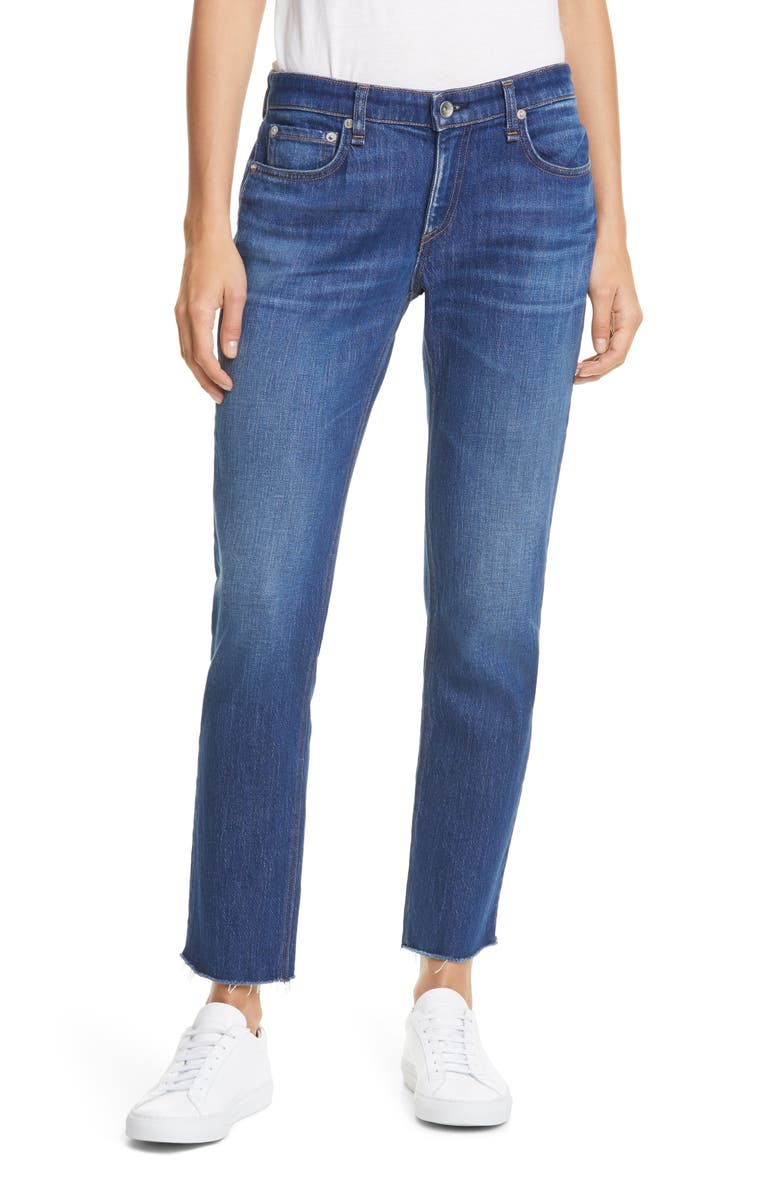 RAG & BONE Dre Raw Hem Slim Boyfriend Jeans, Main, color, 400
