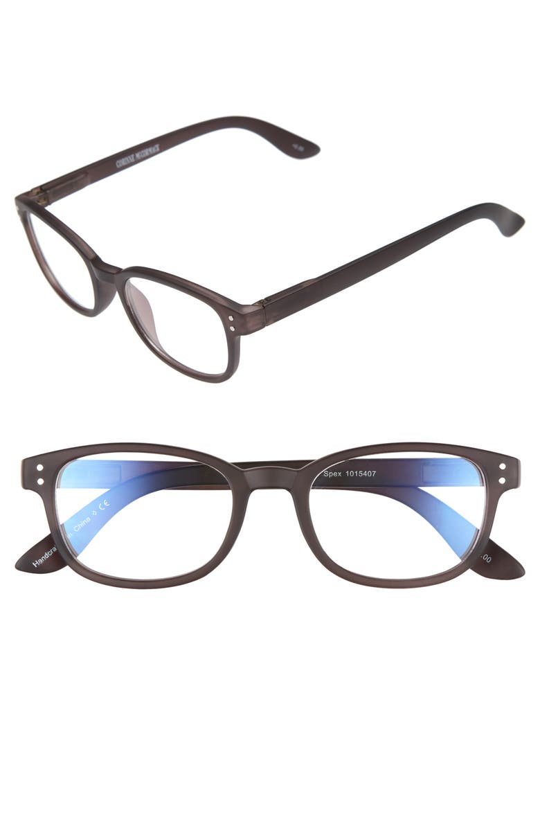 CORINNE MCCORMACK ColorSpex<sup>®</sup> 50mm Blue Light Blocking Reading Glasses, Main, color, 001