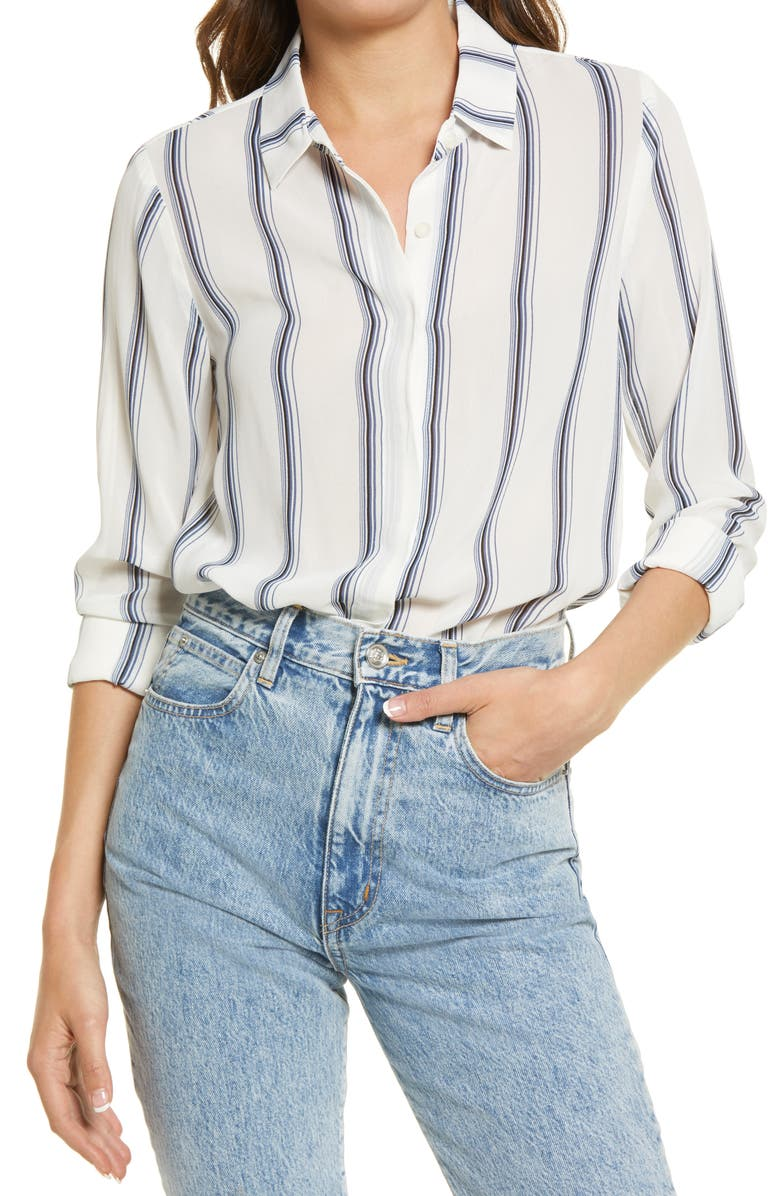 REFORMATION Violet Blouse, Main, color, LYON STRIPE/LYON STRIPE