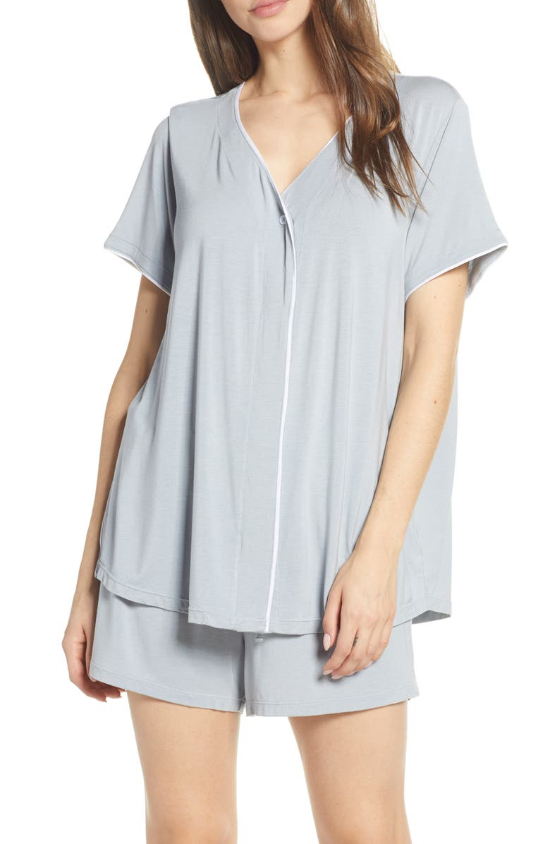 BAREFOOT DREAMS<SUP>®</SUP> Luxe Jersey Short Pajamas, Main, color, BLUE WATER
