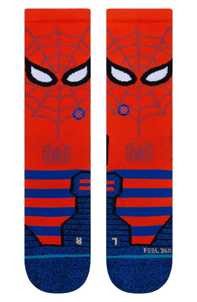 STANCE Spidey Crew Socks, Main, color, RED
