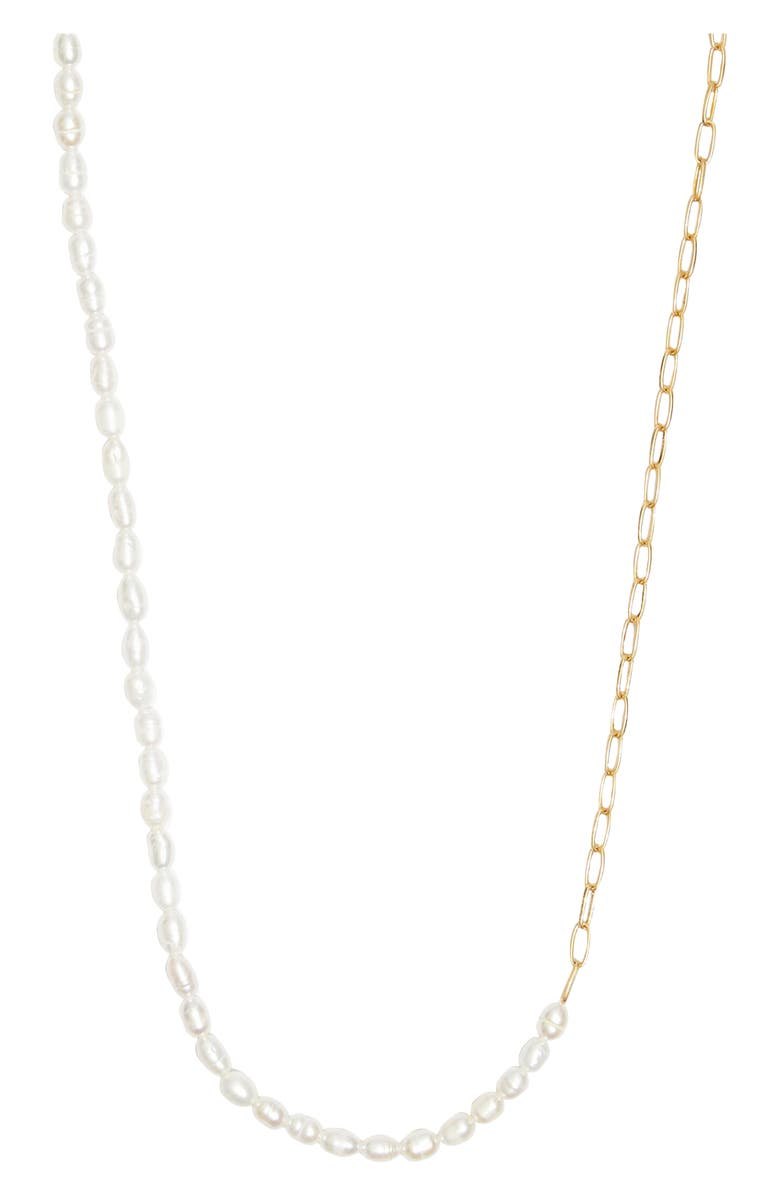 MADEWELL Freshwater Pearl Chain Necklace, Main, color, CULTURA PEARL