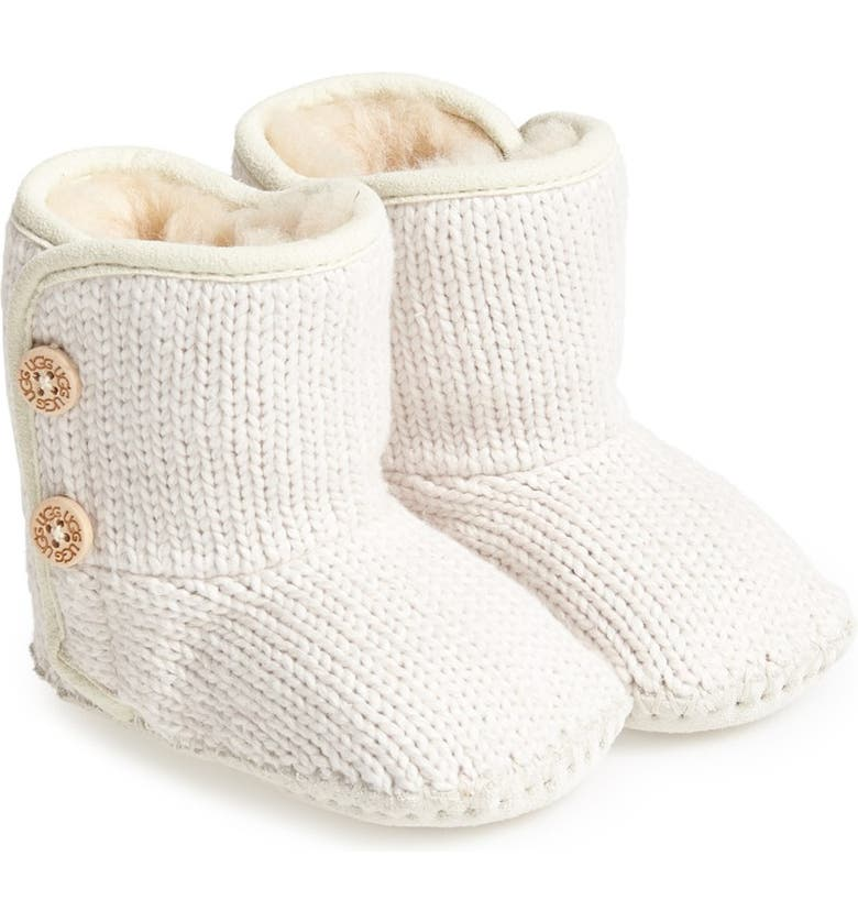 UGG<SUP>®</SUP> Purl Knit Bootie, Main, color, IVORY