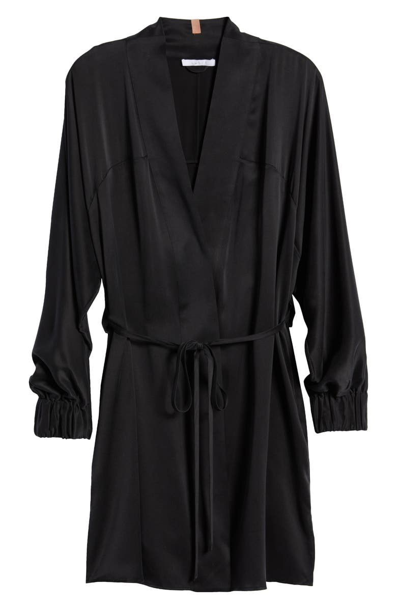 LUNYA Washable Silk Robe, Main, color, IMMERSED BLACK