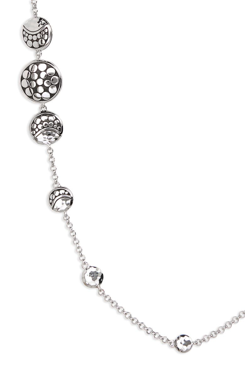 JOHN HARDY Dot Hammered Silver Necklace, Main, color, SILVER