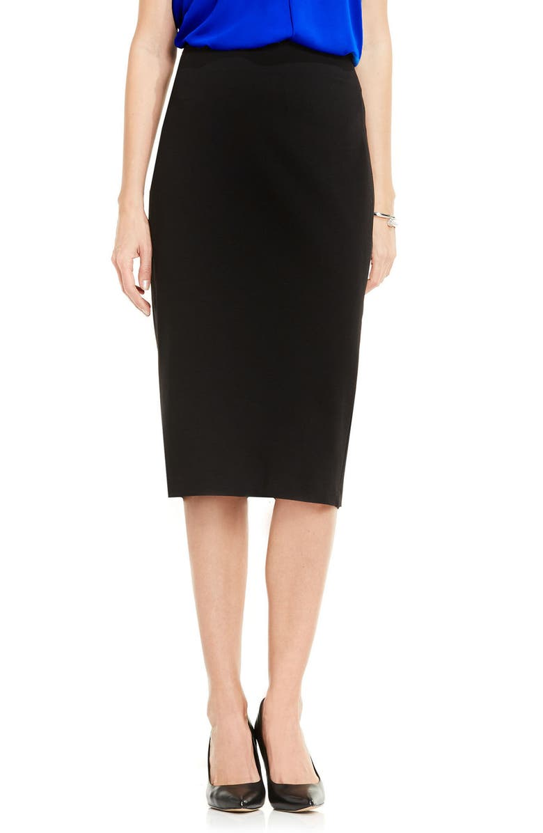 VINCE CAMUTO Pull-On Pencil Skirt, Main, color, RICH BLACK