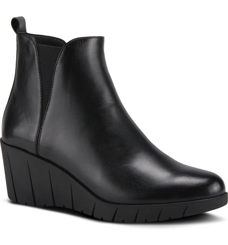 SPRING STEP Medow Bootie, Main, color, BLACK LEATHER