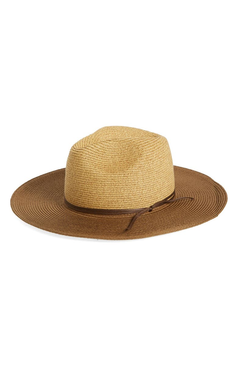 PHASE 3 Colorblock Shimmer Panama Hat, Main, color, 235