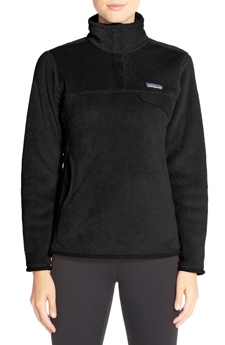 PATAGONIA Re-Tool Snap-T<sup>®</sup> Fleece Pullover, Main, color, 001