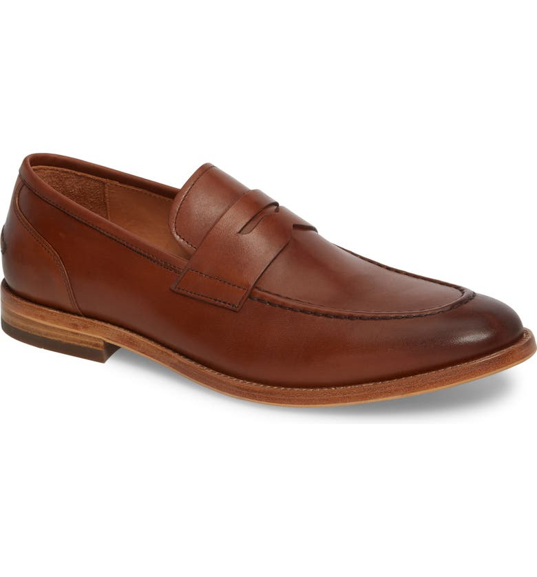 JOHN W. NORDSTROM<SUP>®</SUP> Lucas Loafer, Main, color, LUGGAGE LEATHER