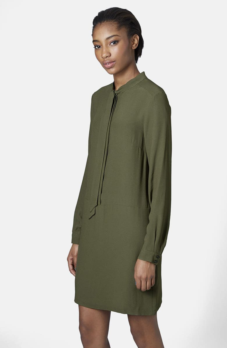 TOPSHOP Necktie Shirtdress, Main, color, 300