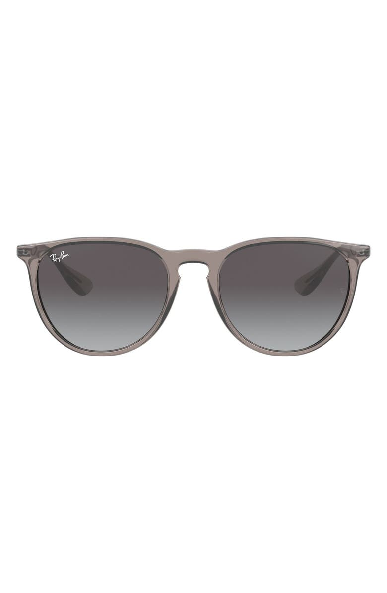 RAY-BAN Erika Classic 54mm Sunglasses, Main, color, TRANSPARENT GREY
