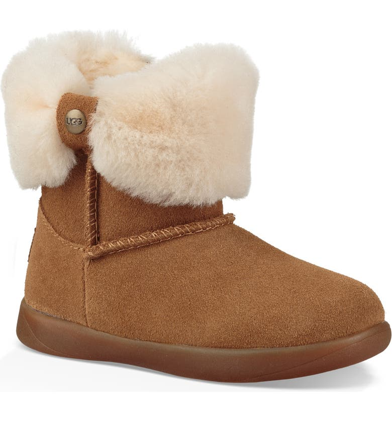 UGG<SUP>®</SUP> Ramona Classic Short Bootie, Main, color, CHESTNUT
