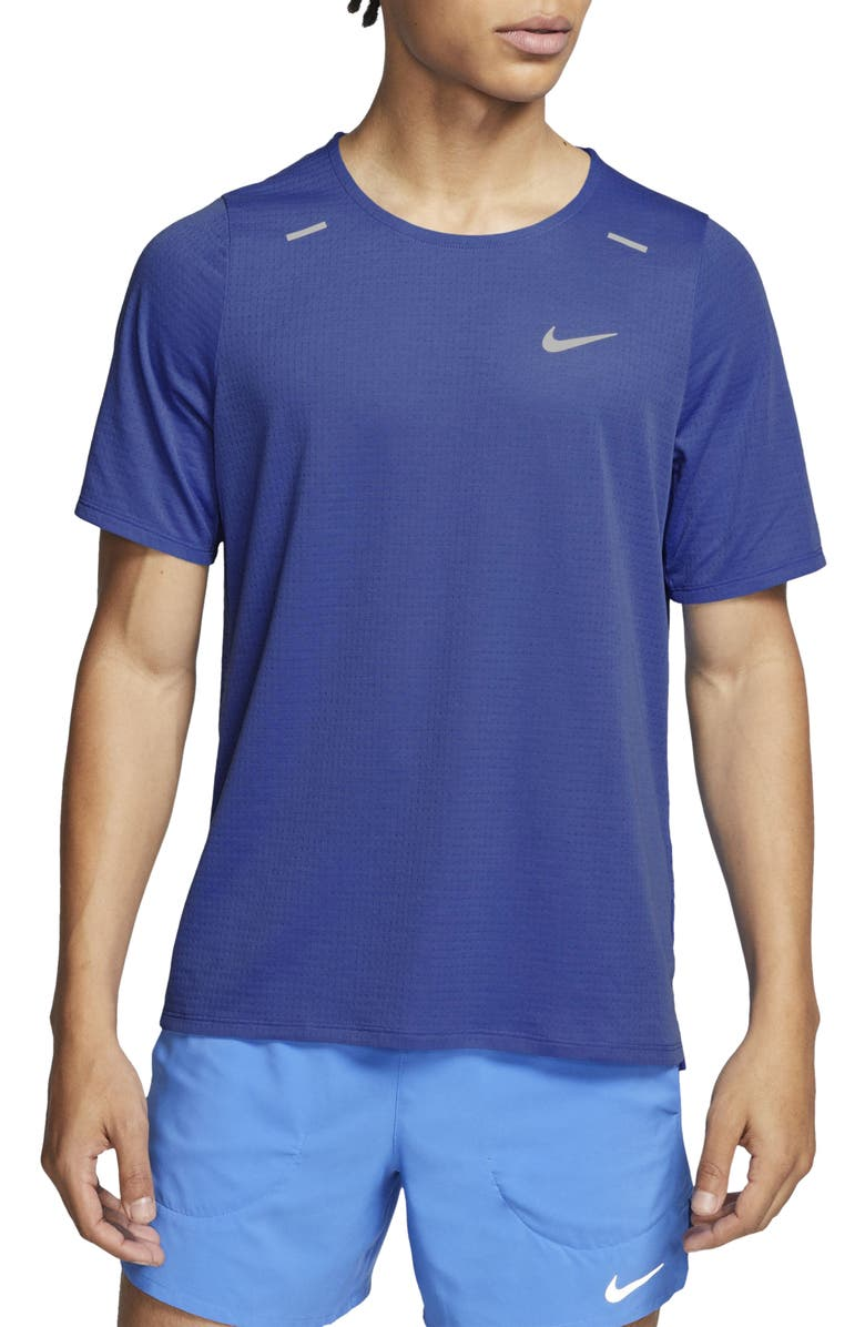 NIKE Rise 365 Running T-Shirt, Main, color, ASTRONOMY BLUE