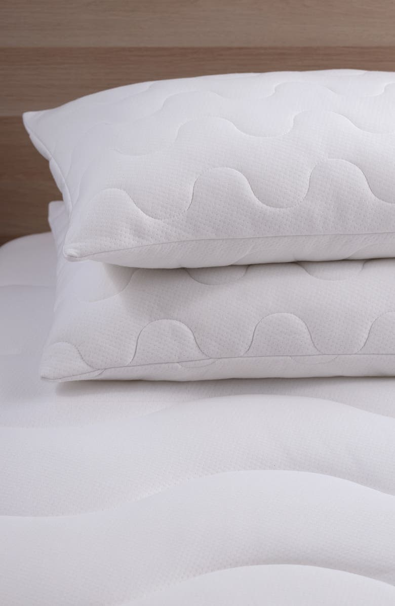 ALLIED HOME Climaknit CoolMax<sup>®</sup> Pillow Protector, Main, color, White