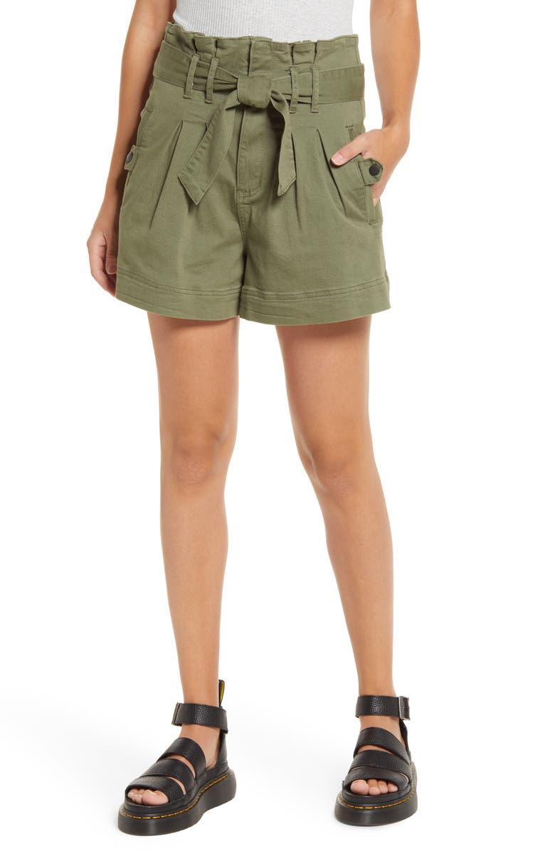 STS BLUE High Waist Paperbag Shorts, Main, color, 317