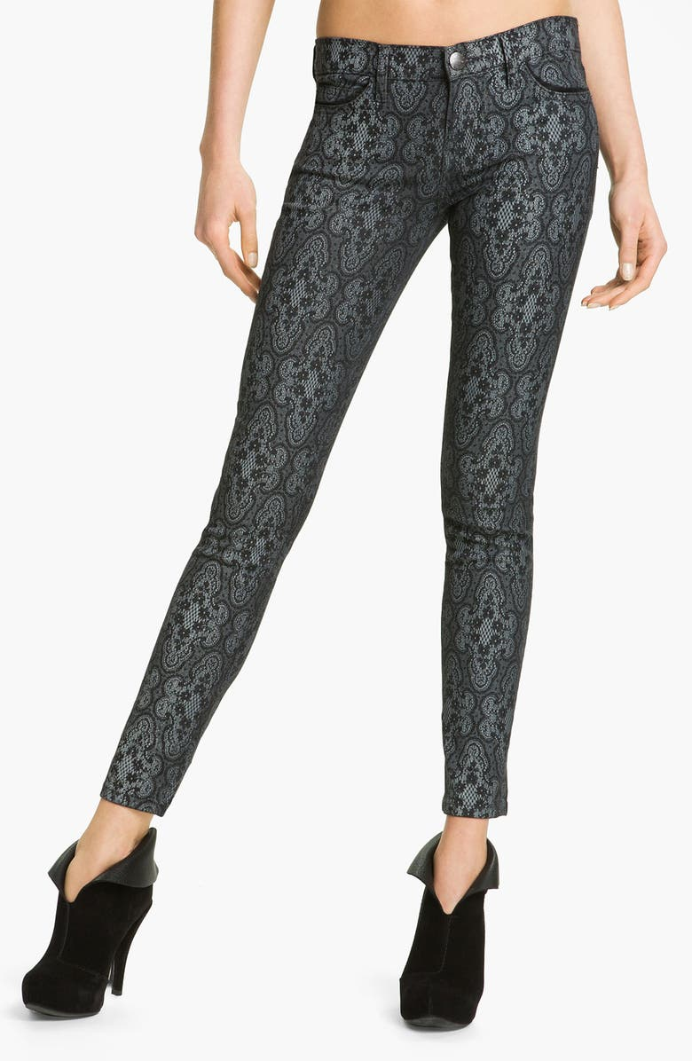 CURRENT/ELLIOTT Print Stretch Skinny Jeans, Main, color, 005